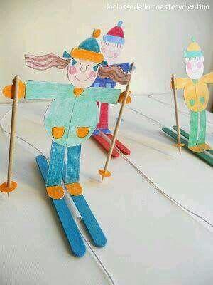 Ski-poppetjes maken