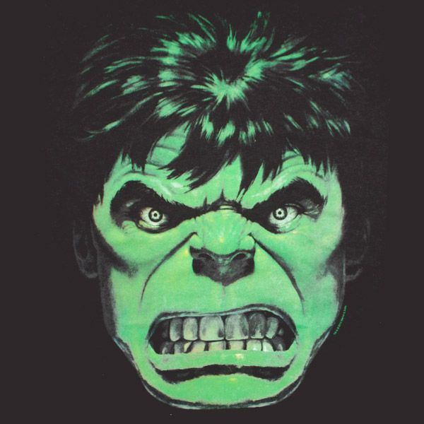 The Incredible Hulk Angry Face Black Graphic TShirt | TVMovieDepot.com