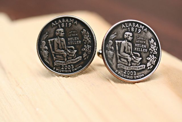 State Quarter Cuff Links by Bourbon and Boots http://www.bourbonandboots.com/