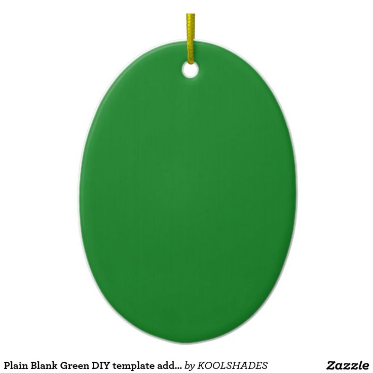 Plain Blank Green DIY template add text photo quot Double-Sided Oval Ceramic Christmas Ornament