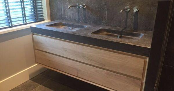 Luxury bathroom furniture solid oak by K E N G E R | K E N G E R | Pinterest
