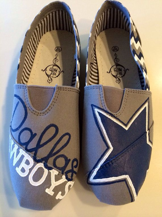 Dallas Cowboys TOMS by SweetandSassyStudios on Etsy, $95.00