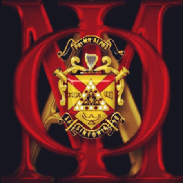 Phi Mu Alpha Sinfonia crest with Greek letters