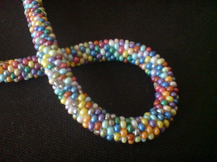 Modele De Collier En Perle Facile : Collier de perles rocailles m?lange multicolore crochet?
