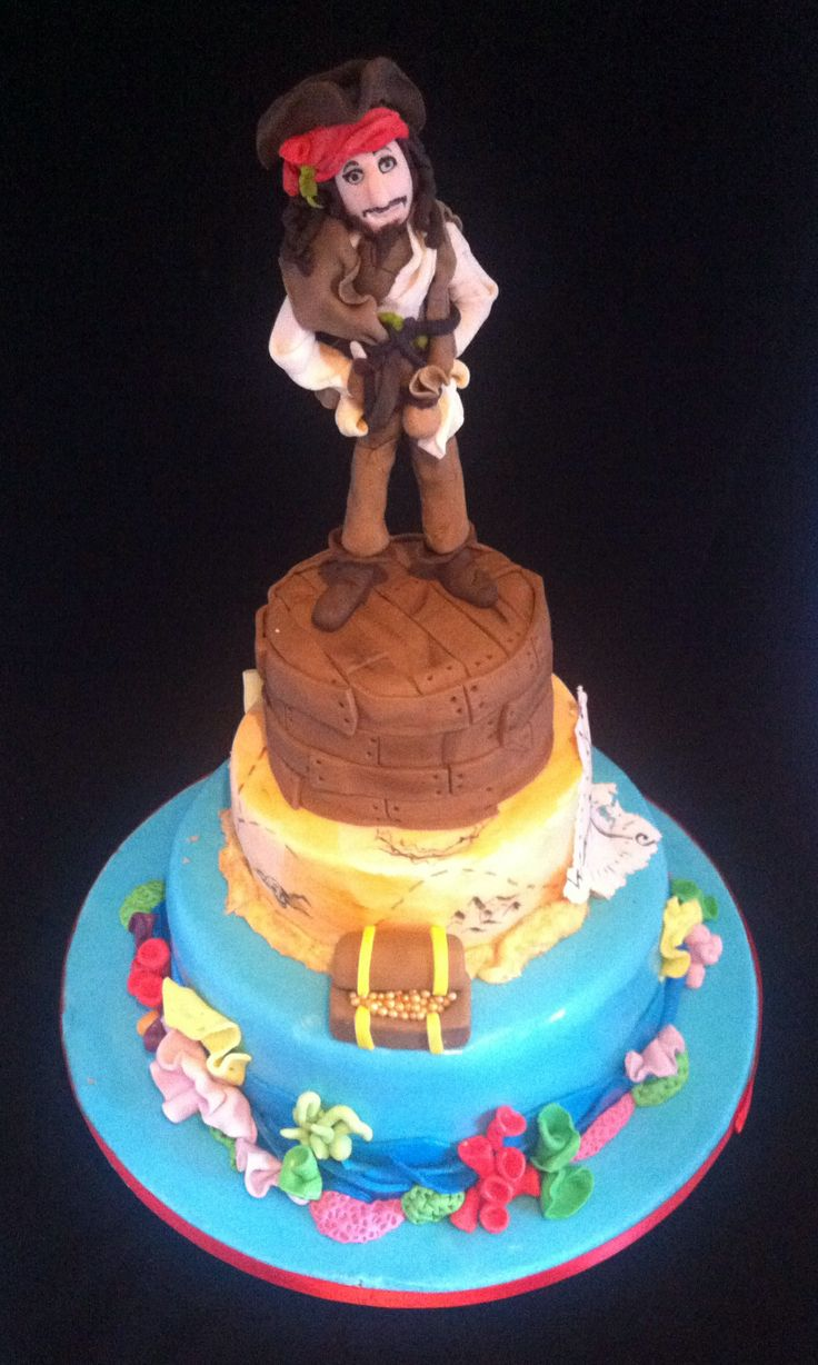 Jack sparrow, Pirates of the Caribbean cake