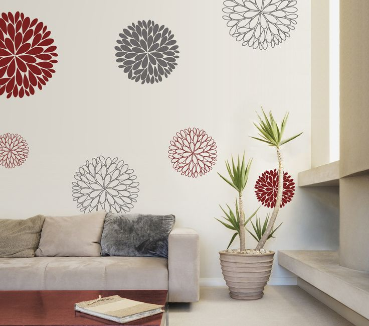 Best Abstract Wall Decals Images On Pinterest Wall Decals - Vinyl wall decals abstract