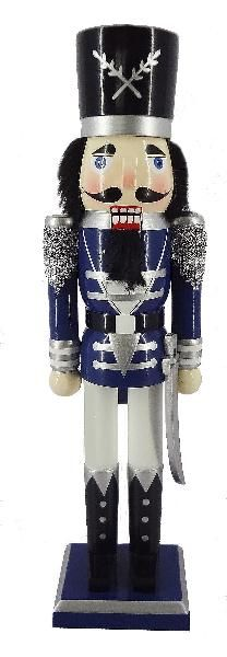 N152: 15 inch Nutcracker with Blue Jacket and Sword
