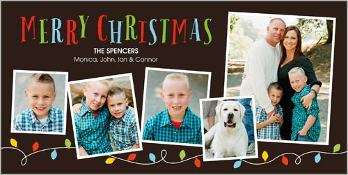 Surround the smiles with merry and bright lights for the holidays. Lovely Little Lights 4x8 Photo Card by Shutterfly | www.Shutterfly.com