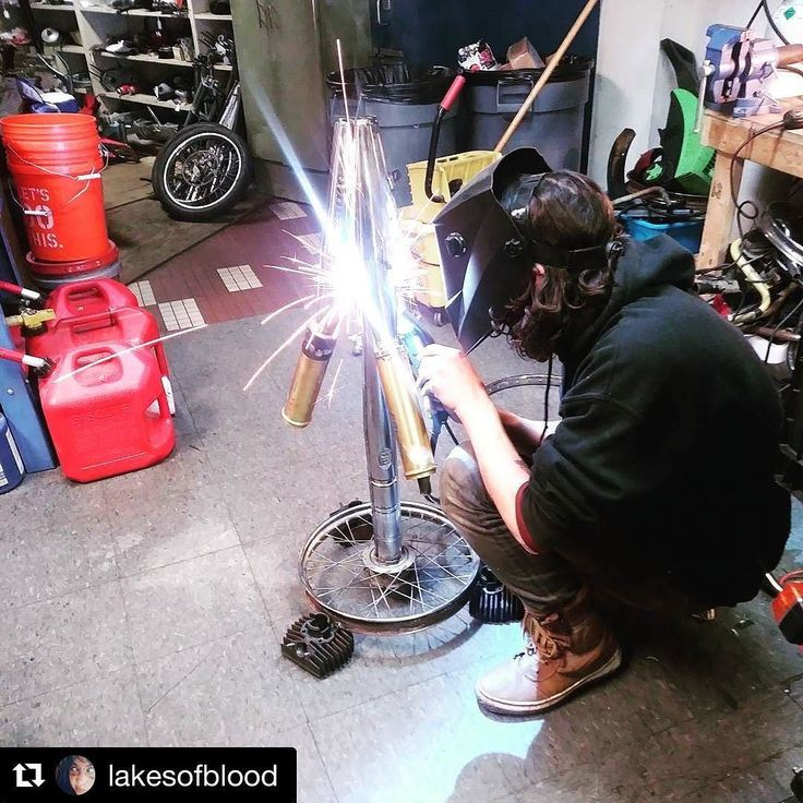 Did you know that we offer welding services?!?! Did you know that we are all caught up and ready for same day repairs and / or large winter projects?!?!?! Damon is filling his time with this from art project while he awaits your peds.  #Repost @lakesofblood  @dienasty_dynasty getting into the holiday spirit by welding together a christmas tree of moped parts.  #custommoped #sweettomos #welding #biturbo #merrychristmasyafilthyanimal #happyholidays #southwestdetroit #motorcityriot