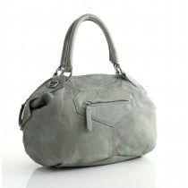 LIEBESKIND Berlin Damba Tumbled Goat Handtasche mit Riemen Hyena Grey