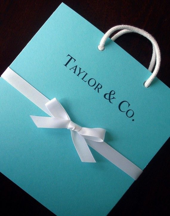 4 extra Tiffany Blue Bag Shower Invitations for  by alamodebride, $24.00