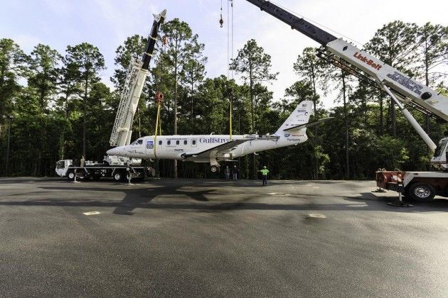 Gulfstream Aerospace Corp. recently donated a Gulfstream G100 aircraft and several other items to Savannah Technical College