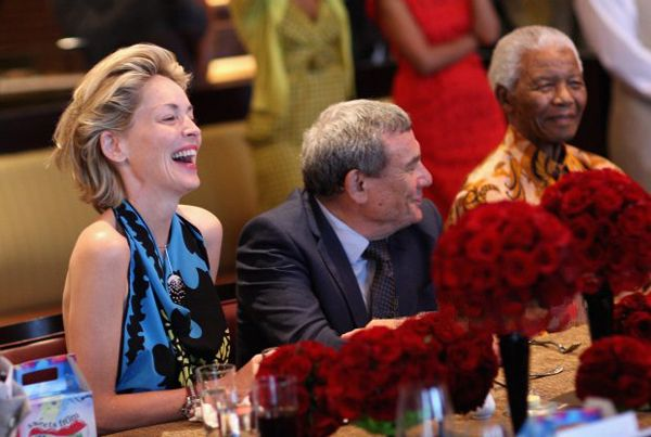 2009,Nelson Mandela with Sharon Stone in One&Only Cape Town
