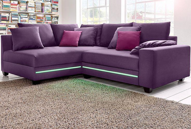 Luxury Polsterecke wahlweise mit RGB LED Beleuchtung Jetzt bestellen unter https moebel ladendirekt de wohnzimmer sofas ecksofas eckcouches uid udcf u