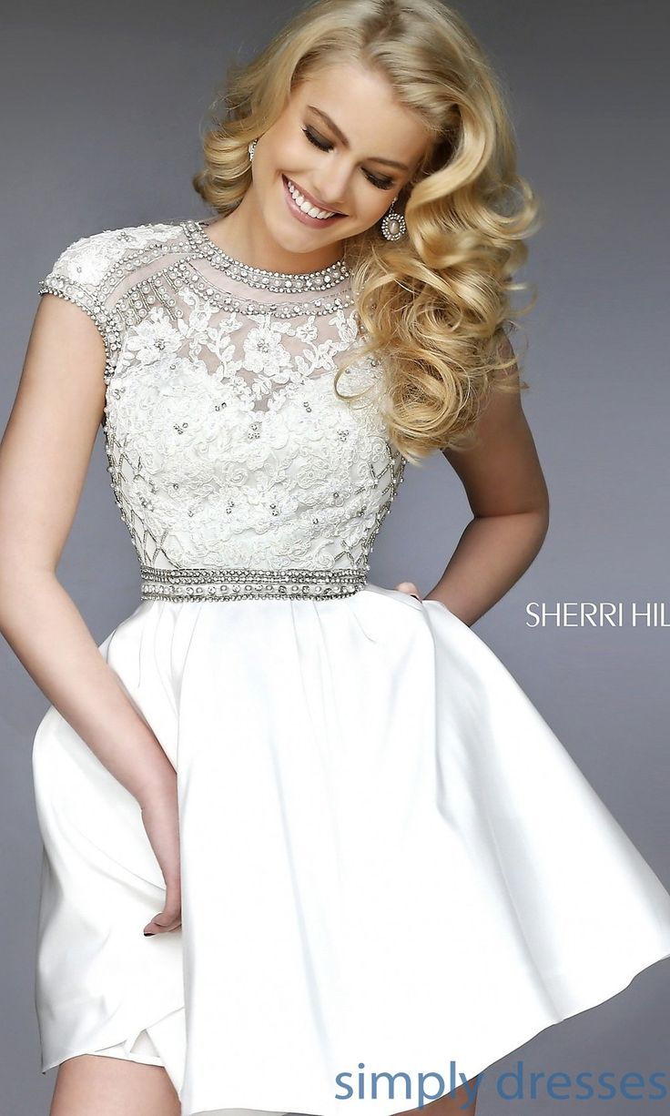 Sherri Hill Short Lace Homecoming Dresses Tight