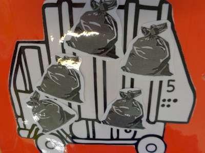 Cijfers en getalbeelden: hoeveel vuilniszakken in de vuilniskar?