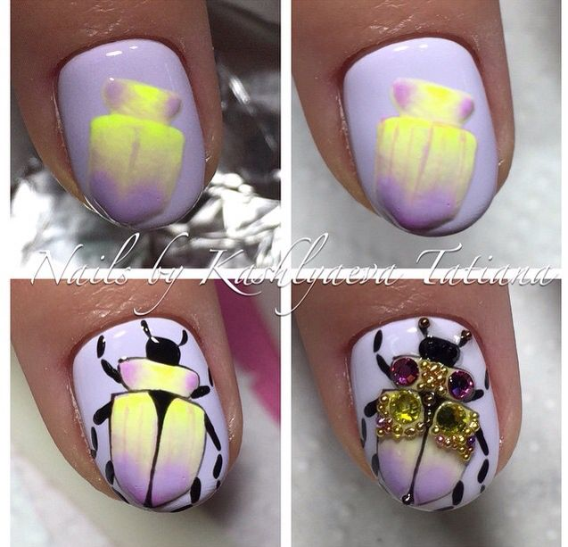 Beatle by @nailartist_vseyarusi