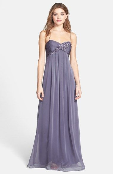 Adrianna Papell Floral Appliqué Chiffon Dress available at #Nordstrom