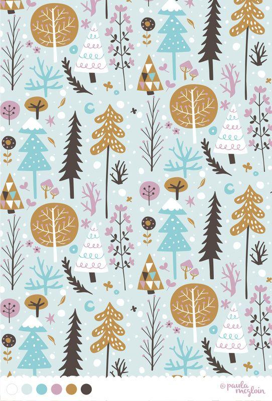 Snowfall and Christmas. I like the use of colours xx