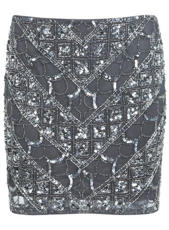 Linear Embellished Skirt. Miss Selfridge.