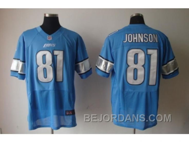 http://www.bejordans.com/free-shipping-60-off-nike-nfl-detroit-lions-81-johnson-blue-elite-jerseys.html FREE SHIPPING ! 60% OFF! NIKE NFL DETROIT LIONS #81 JOHNSON BLUE ELITE JERSEYS Only $20.00 , Free Shipping!