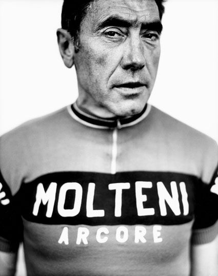 Old-school jerseys were the best. Eddy Merckx, portrait by Stephan vanfleteren
