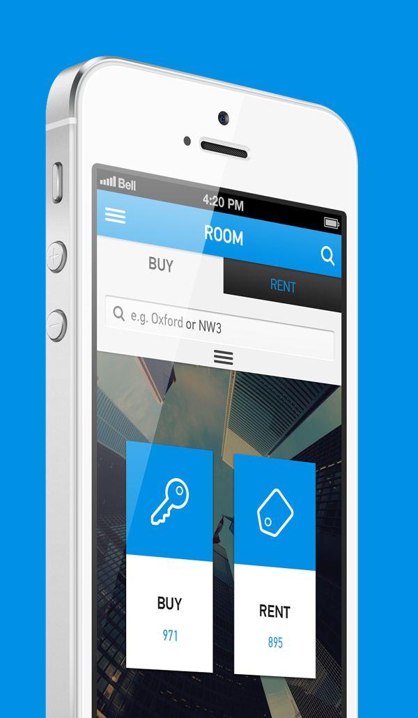 Room App by Pavlo Tyshchuk, via Behance #design, #UI, #UX, #interface, #experience