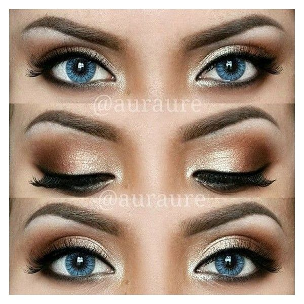 12 Easy Ideas For Prom Makeup For Blue Eyes Gurl ❤ liked on Polyvore featuring beauty products, makeup, eye makeup, eyes and beau