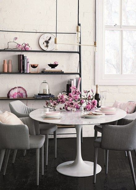 Decorate with flowers - Keep it simple and dress up your table with an single magnolia branch for effortless impact. Home Beautiful
