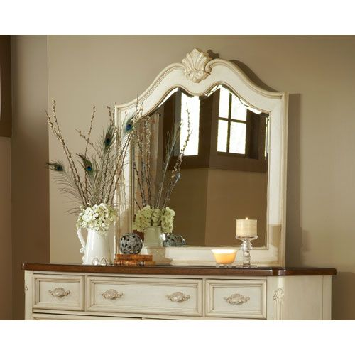Chateau Antique White Landscape Mirror