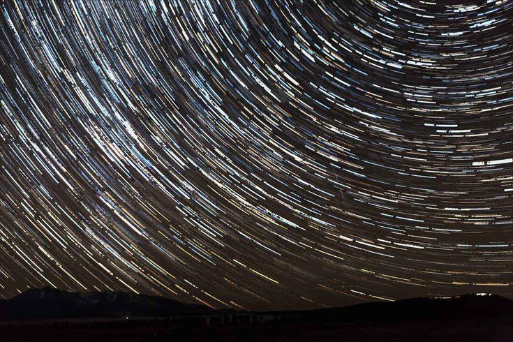 Star trail, night photography by Nadeen Flynn