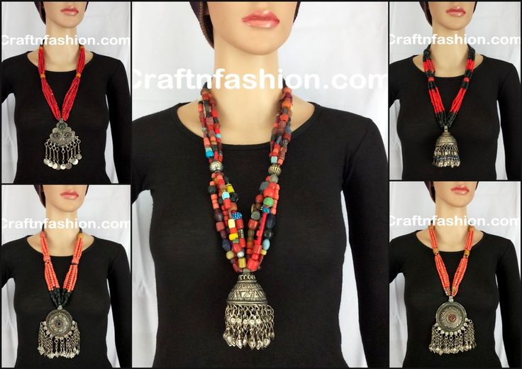 Afghnai Old Coin NECKLACE- vinatege Festival Afghani Jewelry- Afghan Tribal Jhumar Necklace-  Tribal Afghan Pendant set-