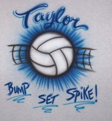VOLLEYBALL AIRBRUSHED PERSONALIZED T SHIRT YOUTH AND ADULT SIZES [ADULT SMALL,gray,Short Sleeve]. I have this shirt and I love it! You can customize it's colors, name, and it's so comfortable! I want to get another!