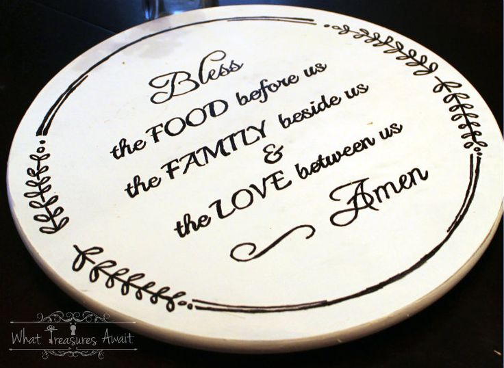 Bless the food lazy susan