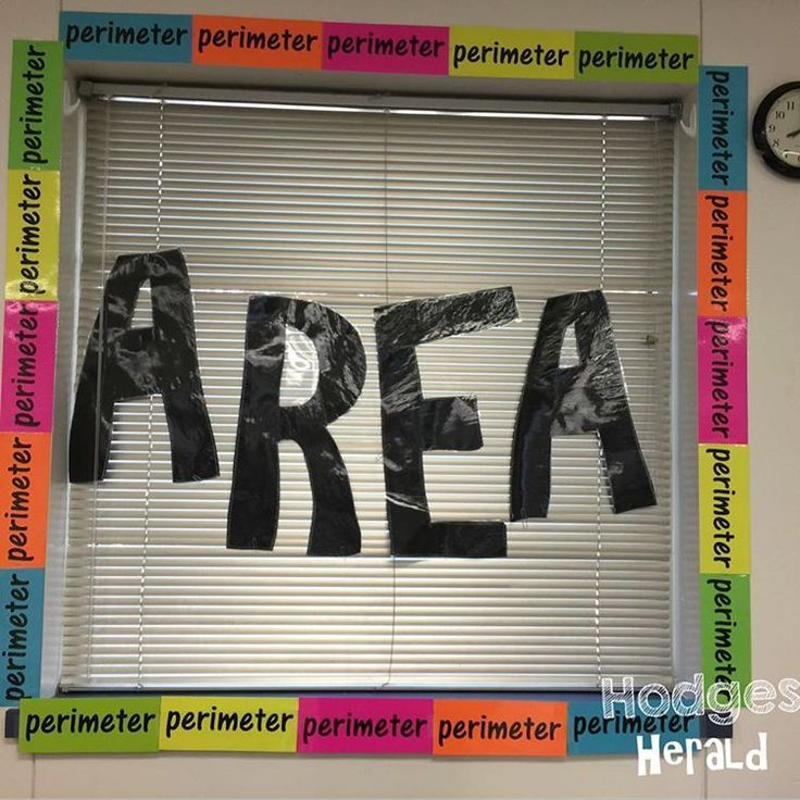 Hodges Herald Area and Perimeter window...What a GREAT visual for kids!