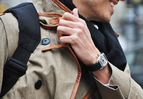 On the go w/ style....................Colors, Street Style, Style Guys, Men Style, Boys, Leathertrim, Men Fashion, Leather Trim, Coats