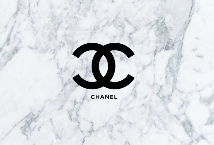 chanel logo with a marble background. This is perfect for