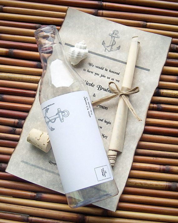 84 best images about Message in a Bottle – Message in a Bottle Party Invitations