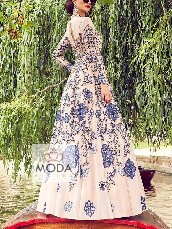 Latest indo western gown for wedding reception