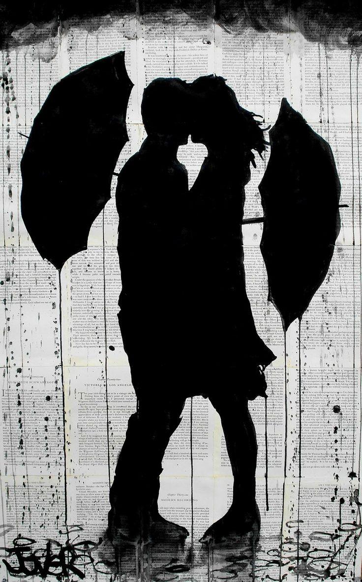 loui jover   Loui Jover: Ink Art Set Against Vintage Book Pages   Endpaper