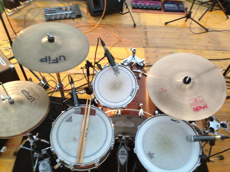 Drumset live @ festa della birra Santa Maria in Cerreto Rimini il 31.08.13