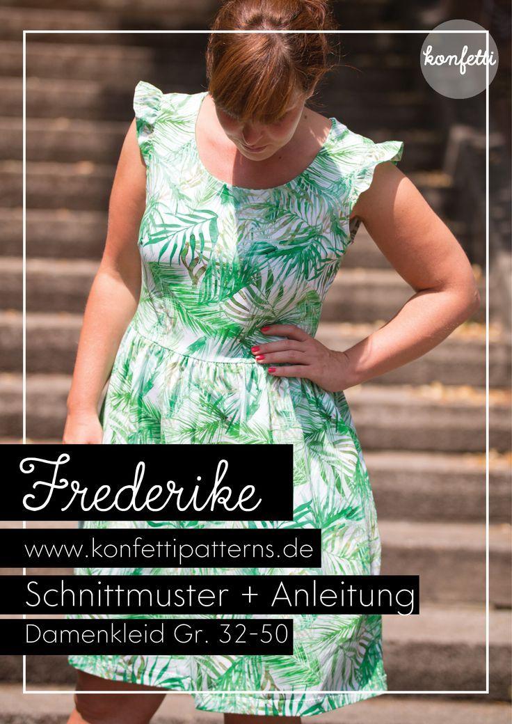 7ccb3a3e4e5 Frederike von Konfetti Patterns ist ein wunderbar vielseitiges Schnittmuster  für ein Sommerkleid (aber auch für
