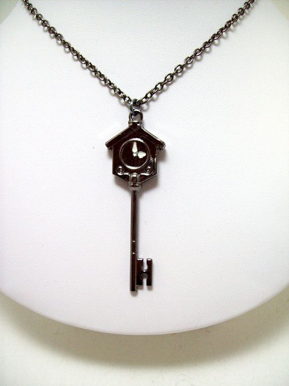 Fairy Tail necklace fairy tail key mens by Eternalelfcreations, $12.00