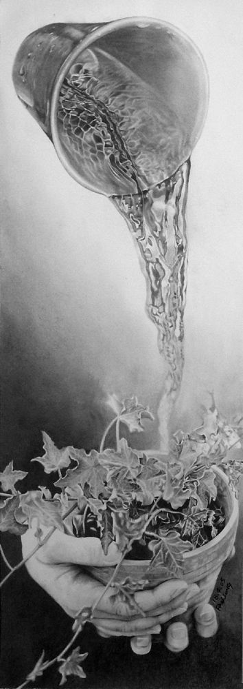 It's one of Paul Lung's insanely realistic pencil drawings!