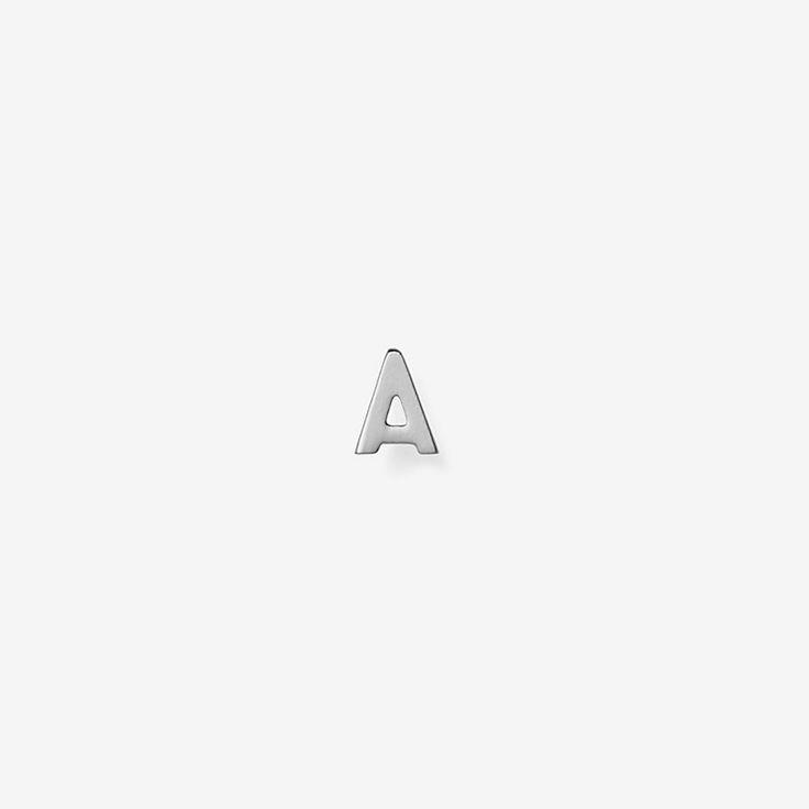 Single Initial Earring in Silver - Kate Spade Saturday