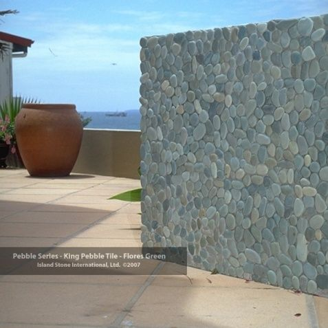 Image result for pebble wall tiles outdoor