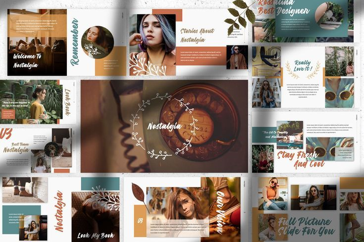Powerpoint Template Nostalgia A Presentation Template Made By Love Inspiration On Cu Templates Free Design Presentation Design Template Creative Powerpoint