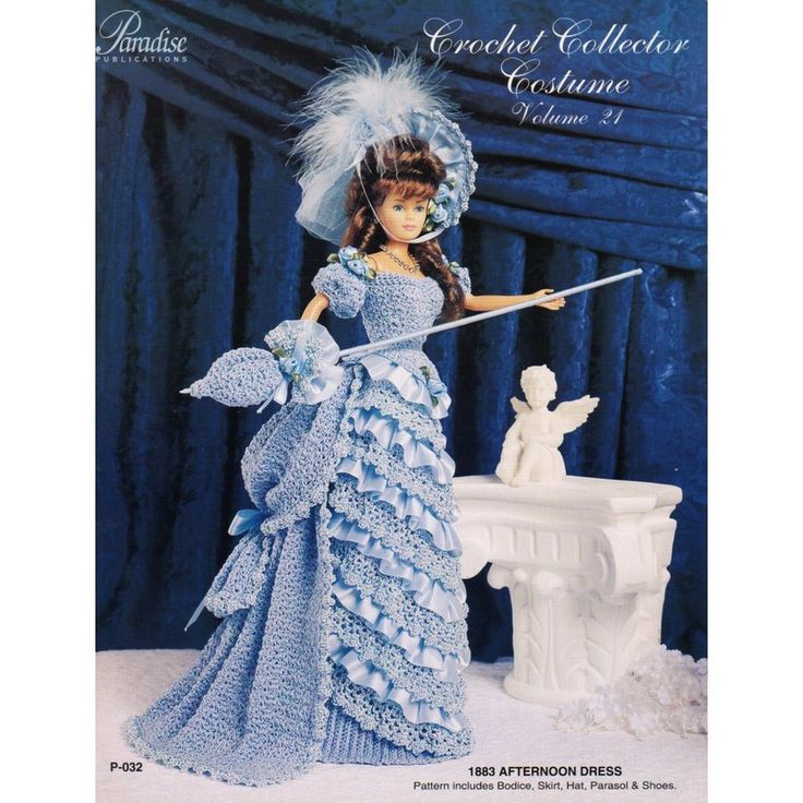 129 best paradise crochet collector costume images on pinterest image detail for victorian dress and accessories crochet pattern fashion dolls pdf dt1010fo