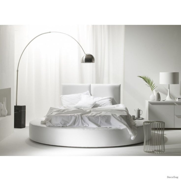 Best BedRooms Images On Pinterest Round Beds Beds And - Black leather round bed