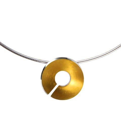 Gold Torc Pendant- by Ann Chapman
